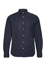 Stretch Oxford Slim Shirt - JL NAVY