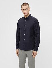 J. Lindeberg - Stretch Oxford Slim Shirt - basic-hemden - jl navy - 0