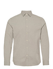 Stretch Oxford Slim Shirt - LAKE GREEN