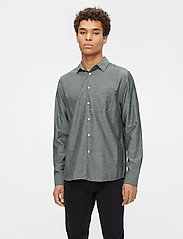 J. Lindeberg - Stretch Oxford Slim Shirt - basic-hemden - lake green - 0