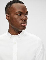J. Lindeberg - Stretch Oxford Slim Shirt - basic-hemden - white - 7