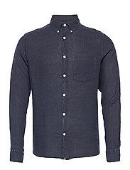 Clean Linen Slim Shirt - JL NAVY