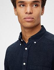 J. Lindeberg - Clean Linen Slim Shirt - basic-hemden - jl navy - 5