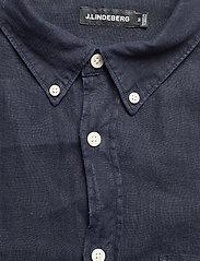 J. Lindeberg - Clean Linen Slim Shirt - basic-hemden - jl navy - 6