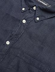 J. Lindeberg - Clean Linen Slim Shirt - basic-hemden - jl navy - 7