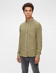J. Lindeberg - Clean Linen Slim Shirt - basic-hemden - lake green - 0