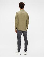 J. Lindeberg - Clean Linen Slim Shirt - basic-hemden - lake green - 3