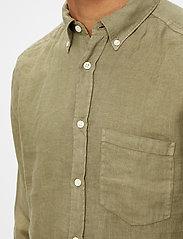 J. Lindeberg - Clean Linen Slim Shirt - basic-hemden - lake green - 5
