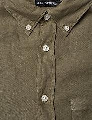 J. Lindeberg - Clean Linen Slim Shirt - basic-hemden - lake green - 6