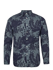 Seasonal Print Reg Fit Shirt - JL NAVY