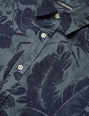 J. Lindeberg - Seasonal Print Reg Fit Shirt - leinenhemden - jl navy - 4