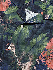 J. Lindeberg - Seasonal Print SS Resort Shirt - leinenhemden - black - 6
