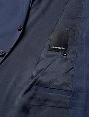 J. Lindeberg - Ben Soft-Voyager Wool - single breasted blazers - mid blue - 4