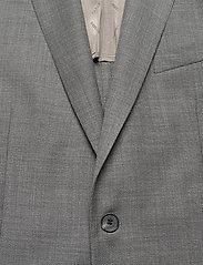 J. Lindeberg - Hopper PP UNC-Hopsack Wool - single breasted blazers - stone grey - 3