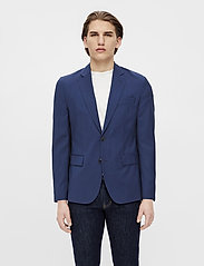 J. Lindeberg - Hopper U Comfort Wool Blazer - single breasted blazers - midnight blue - 0