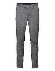 Grant Comfort Wool Pants - STONE GREY