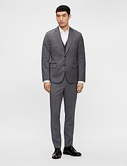 J. Lindeberg - Grant Comfort Wool Pants - anzugshosen - stone grey - 7