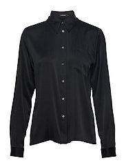 Mallory-Washed Silk - BLACK
