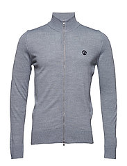 Kian Full Zip Tour Merino - LT GREY MELANGE