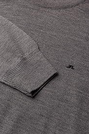 J. Lindeberg - Lyle True Merino - basic-strickmode - grey melange - 2
