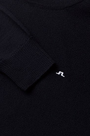 J. Lindeberg - Lyle True Merino - basic-strickmode - navy - 2