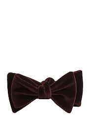 Open Bow-Tie Evening Velvet - BURGUNDY