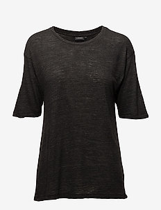 Rhonda Wool Jersey - basic t-shirts - black mel