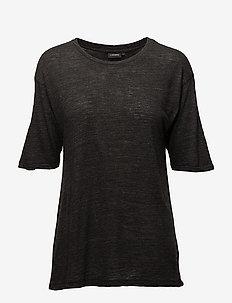 Rhonda Wool Jersey - t-shirts - black mel
