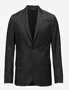 Hopper Soft 140s Platinum - blazers à boutonnage simple - almost black