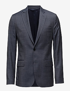 Hopper Soft 140s Platinum - blazers à boutonnage simple - dusty blue