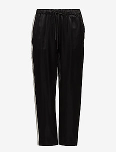 Spring Viscose Silk - straight leg trousers - black