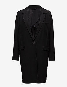 Laya Spring Twill - wool coats - black