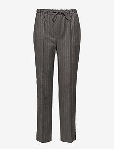 Janet Wool Pin - bukser med lige ben - dk grey
