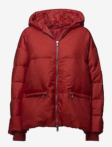 Sloane Shiny Poly - padded jackets - molten lava