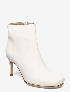Anmanari Patina Suede - ankle boots with heel - white