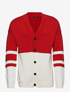 Dorian Cardigan Cotton - DEEP RED