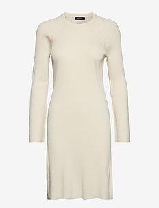 Melina Drapy Rib - midi jurken - ivory white