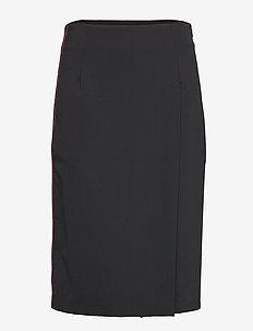 Silva Sport Drape - midi skirts - black arrow