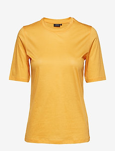 Charlotte Feathery Cotton - basic t-shirts - cool peach
