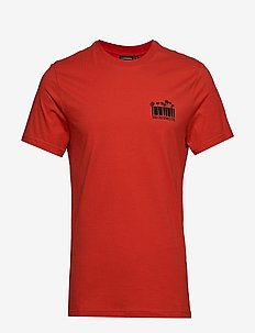 Brand Tee Bridge S Jersey - kortærmede t-shirts - deep red