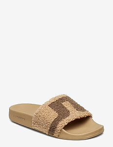 Robin Slipper Sport Terry - LATTE BEIGE