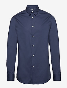Daniel CBU Clean Poplin - basic skjortor - jl navy