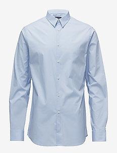 Daniel CBU Clean Poplin - basic skjortor - lt blue