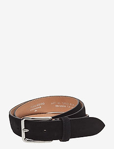 S-BELT 52033 Cow Suede - BLACK