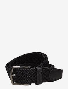 S-BELT 52004 Elastic Braid - flettede belter - black