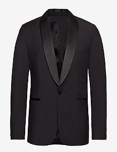 Savile SC Sft Tux Comfort Wool - single breasted blazers - black