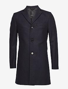 Wolger Compact Melton - wool coats - jl navy