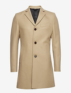 Wolger Compact Melton - wool coats - sand