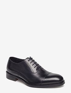 Hopper Cap Toe Port Calf - laced shoes - black