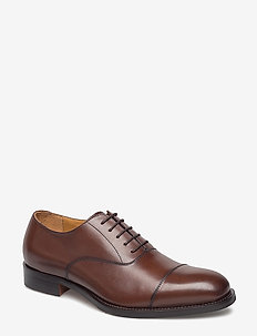 Hopper Cap Toe Port Calf - laced shoes - brown